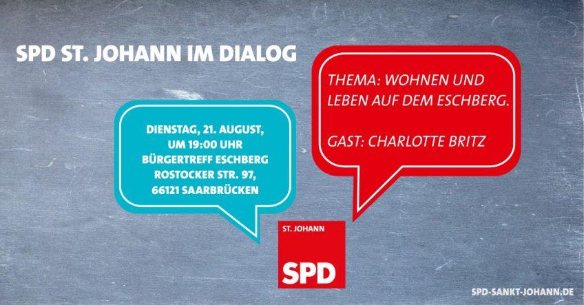 Dialogveranstaltung der SPD St. Johann auf dem Eschberg mit Charlotte Britz