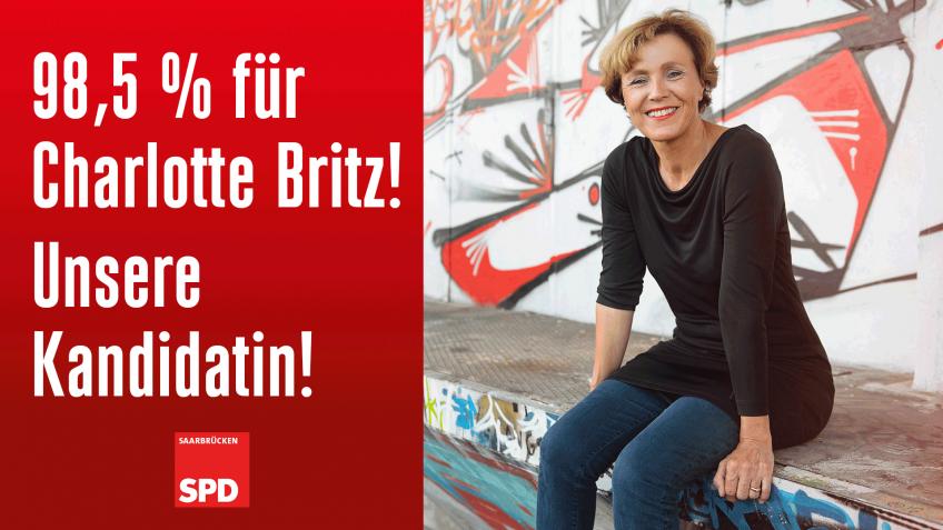 98,5 %! Charlotte Britz geht für die SPD erneut ins Rennen um das Amt der Oberbürgermeisterin der Landeshauptstadt Saarbrücken